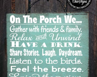 PORCH RULES, porch sign, porch decor, porch decoration, porch decor, outdoor living, outdoor life sign, porch decorations, porch, 100/234