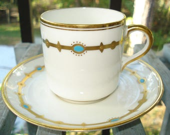 Paragon China Demitasse Cup and Saucer Early Mark