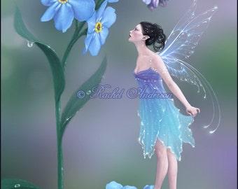 Vergiss mich nicht Flower Fairy Kunstdruck/Poster