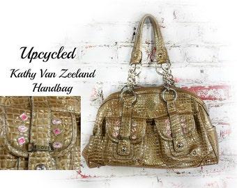 hobo handbag, tote bag, upcycled handbag ,vegan leather handbag, shoulder tote, shoulder bag, designer purse -  # 4