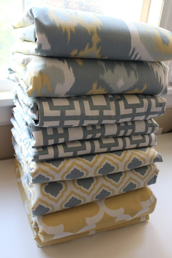 Waterproof Picnic Blanket-New Fabric Ikat Macon Saffron