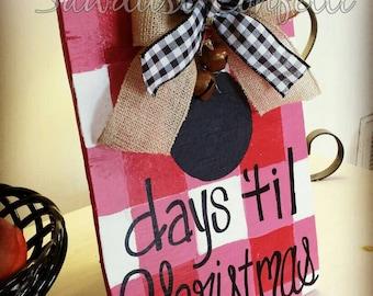 Christmas Countdown,Table Top Christmas Countdown, Christmas Chalkboard, Christmas Countdown