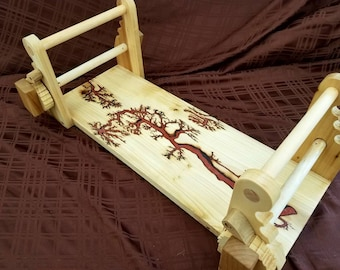High Voltage Red Opal  and Poplar tablet loom great for beginners!
