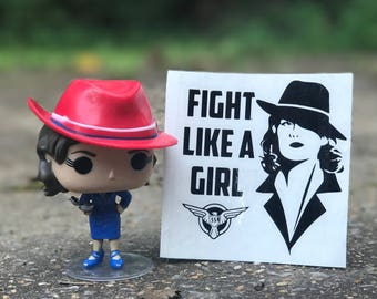Agent Peggy Carter Fight Like A Girl Car, Laptop, or Decor Vinyl Decal
