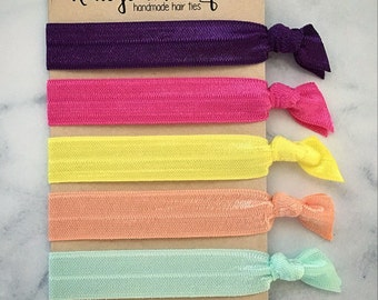 """Elastic Hair Ties - The """"Sophie"""" Collection"""