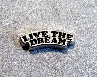 LIVE THE DREAM Floating Charms Locket Charms Glass Locket Charms For Locket Necklace 8x12mm