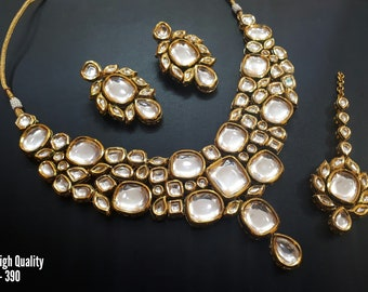 Stunning Kundan Bridal Jewellery | Kundan Bridal jewelry | Indian Bridal Jewellery | Indian Bridal Jewelry | Kundan Necklace Set