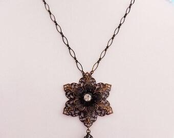 Victorian Lanyard - Teachers Gift - Fashion Breakaway Lanyard - Convertible Necklace - Cruise Lanyard - SPARKLE Bronze