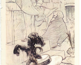 Toulouse-Lautrec - Les Grands Concerts to Frame or to use in Paper Arts, Collage, Scrapbooking, Mixed Media and MORE PSS 2922