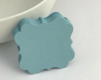 50 blue bracket, die cut, gift tag, scrapbooking, journal spot, cupcake topper