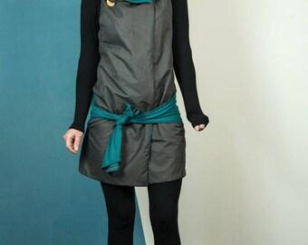 Convertible dress ... vest woman. women's jacket. a wrap ... asymmetrical ... transformable clothing ... mamumble ... Silk ... Kimbe ... changeable
