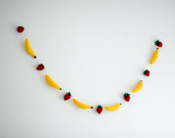 Felt Fruit Garland