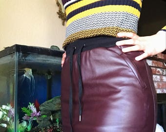 """Cute Brown """"Leather"""" Skirt"""