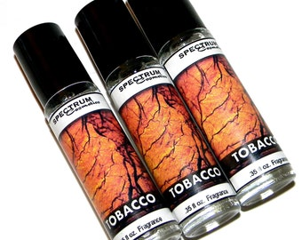 MENS Roll on Cologne TOBACCO Fragrance