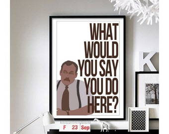 Office Space (Bob) Art Print