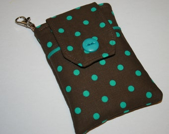 Fabric Smartphone case, Droid case, iPod touch case, iPhone 5 case, iPhone 4-4s case, iPhone Case, Blackberry, Polka Dot