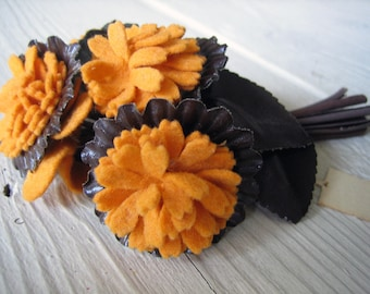 Antique Velvet Millinery Flower 1930s 1940s  (Ref: A-5065/1 Box 2)