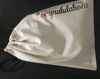 Gift bag | Natural Calico gift bag | Party bag  | Birthday gift bag | Congratulations gift