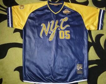 FUBU jersey, Fubu City Series, NYC shirt, vintage New York t-shirt 90s hip-hop clothing, 1990s hip hop, gangsta rap, size XXL, rare!
