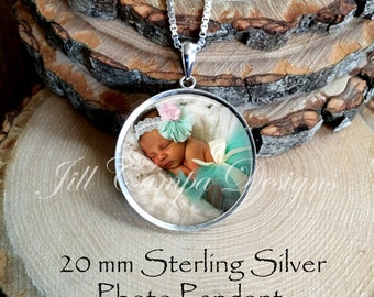Photo Pendant - STERLING SILVER - Your Own Photo - Photo Jewelry - Photo Necklace - Custom Picture Necklace - Personalized Necklace - charm