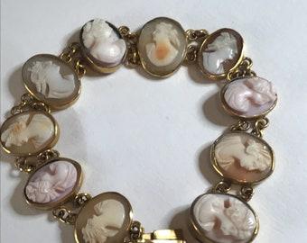 An Antique Victorian Cameo Bracelet 18ct