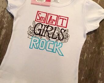 Smart Girls Rock Embroidered Shirt