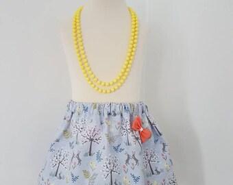 Easter skirt, age 2, ready to post,toddler skirt, easter bunny, rabbit, made in UK