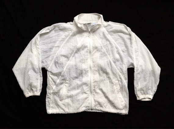 Reebok Windbreaker All White Large by Etsy