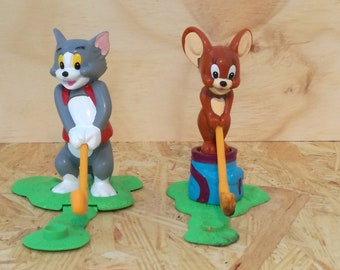 Tom and Jerry figure, tom and jerry art, cat and mouse, tom and jerry set, collectible toys, tom jerry vintage, cartoons, miniature toys