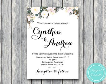 Personalized Wedding Invitations, Bridal shower invitation, Printable Wedding, Personalized Invitation, Wedding Invitation WD74 TH21 WI15