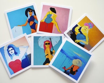 Set of greeting cards - Mix and Match any 4 cards