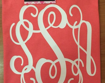 Monogram Shirt, Short Sleeve Monogrammed Shirt