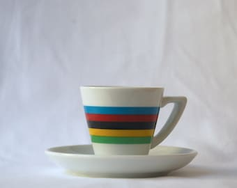 Cycling World Champion Espresso Cup and Saucer
