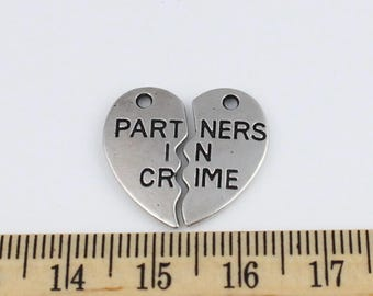 2 Partners in Crime Charms - EF00191