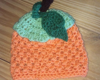 Handmade Pumpkin Crochet Baby Hat/Newborn Pumpkin Hat/ Baby Pumpkin/Photography Prop/Crochet Baby Pumpkin Hat/Crochet Pumpkin Hat