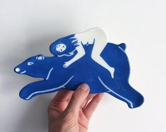 Girl and Bear Dish
