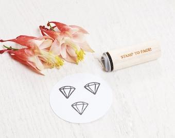 Diamond - Mini Rubber Stamp