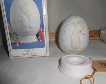 1992 Precious Moments Egg Make a Joyful Noise New-Old-Stock collectible
