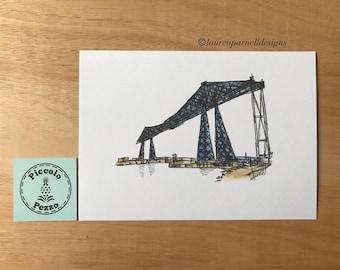 Small Transporter Bridge print