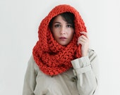 Ready To Ship! Huge Crochet Infinity Scarf  - Orange Fall Fashion Accessories - Oversized Crochet Scarf - Loop Scarf Cowl | Hyperion Scarf |