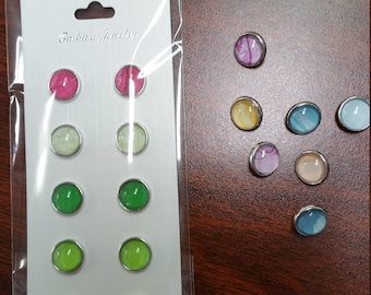 New Mini 12mm Snap Buttons-Marble Pastels