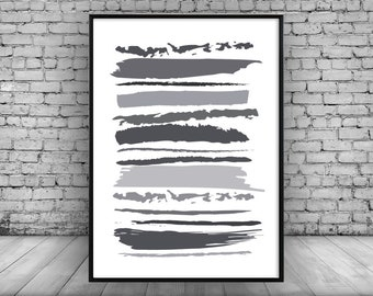 Wall Print; Shades;Grey;Wall hanging;Home decor;design;Minimal;Picture;Art