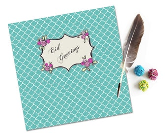 Contemporary Eid Card, Eid Greeting Cards, Islamic Cards, Muslim Cards