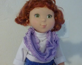 """18"""" Doll Lavender Infinity Scarf"""