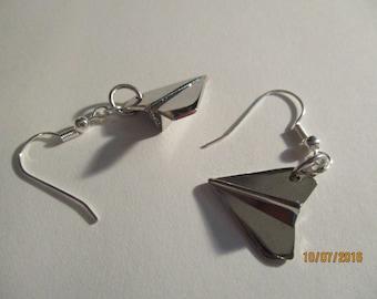 Paper Airplane Earrings