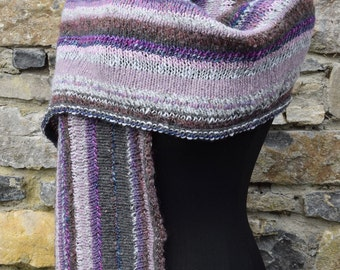 Hand knitted shawl wrap