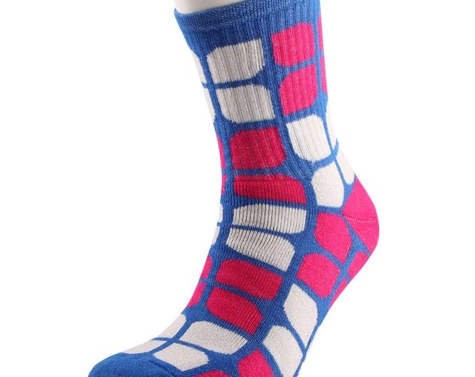 Samson® Flower Power Azalea Socks Cotton Fashion Flowers Girly Blue Red