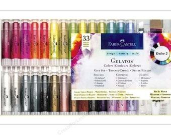 Gelatos Dolce2:  Bible Journaling Supplies - D-M-C Gelatos Mix & Match Gift Set by Faber-Castell - Perfect for Bible Journaling!