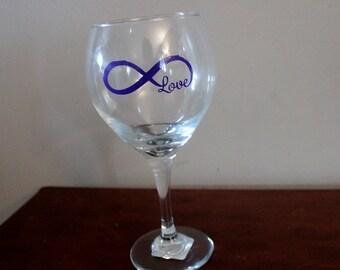 Infinite Love Wine Glass