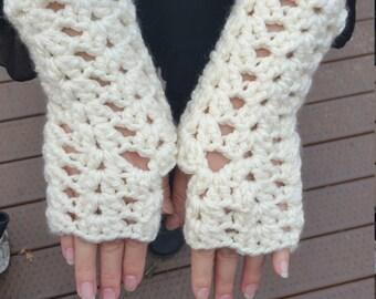 Fans & Ripples Fingerless Gloves